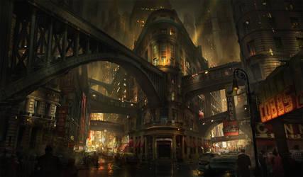 Noir City by eddie-mendoza