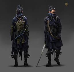 Cyber Samurai by eddie-mendoza