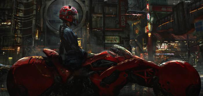 Biker Girl by eddie-mendoza