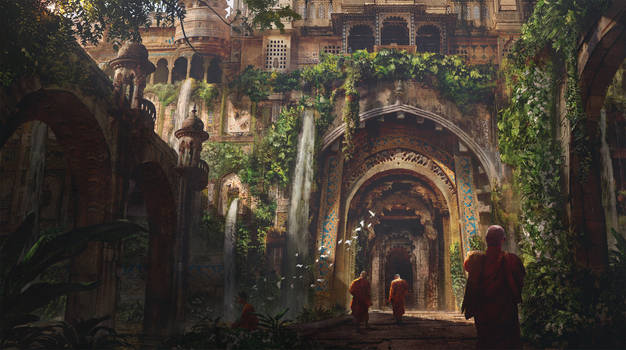 The Meditation Garden by eddie-mendoza