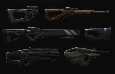 Cyberpunk gun concepts