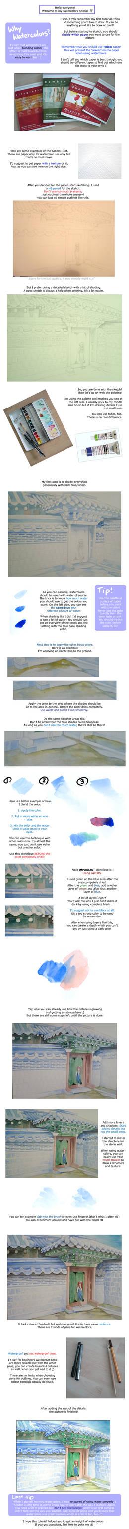 basic watercolor tutorial