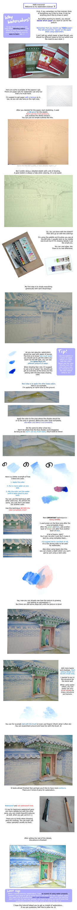 basic watercolor tutorial by leinef