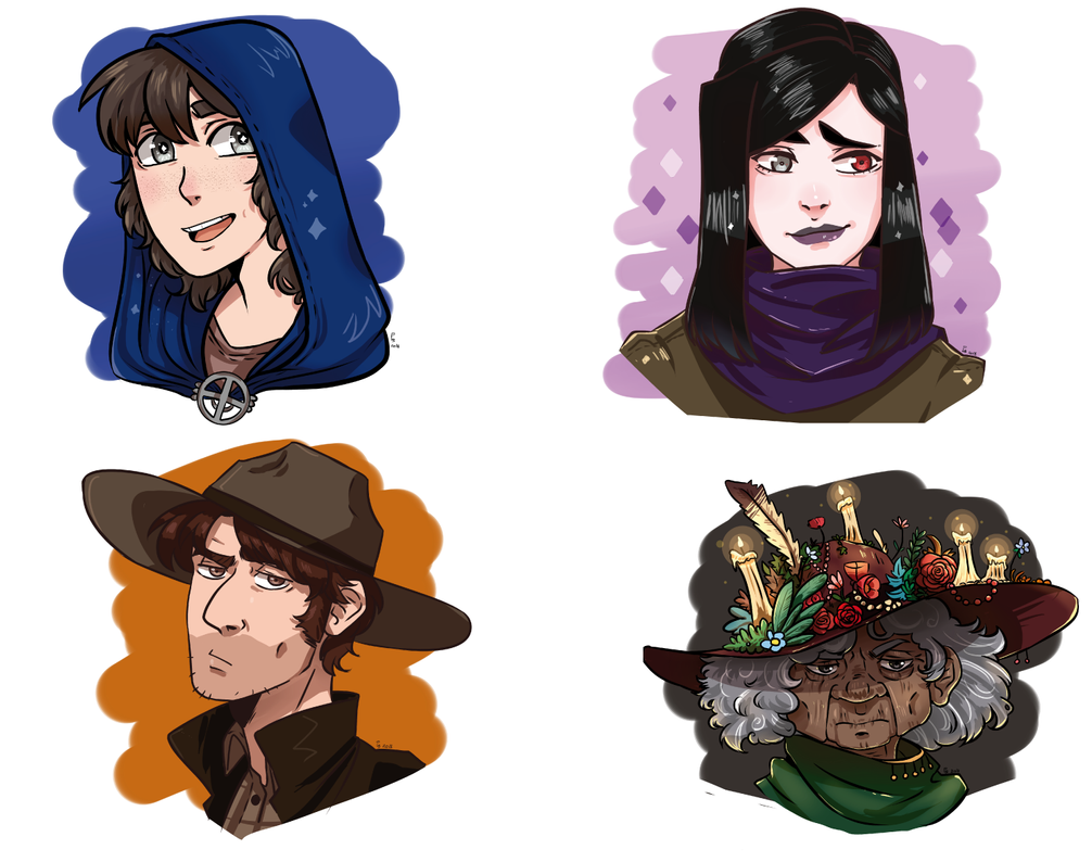 Commission  busts 4 by LEILA-S-P7