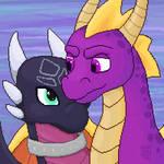 Spyro and Cynder by Winsenta