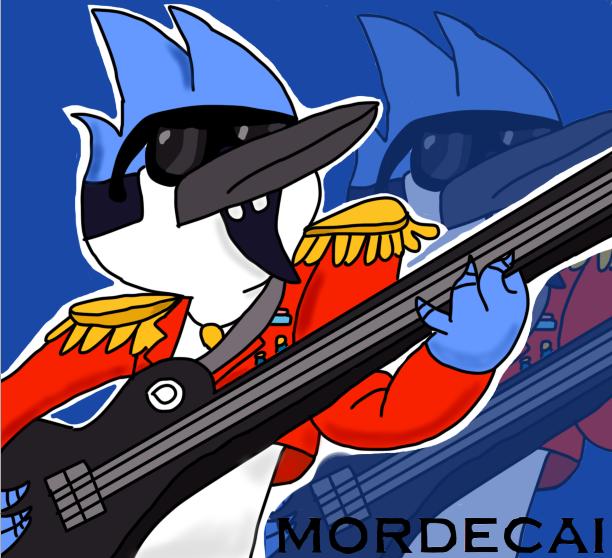 MORDECAI ROCKSTAR!!!!!!!! by karlix-the-wiz