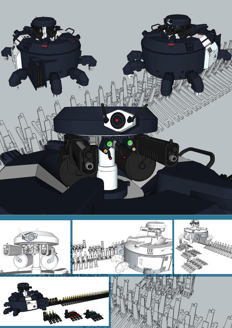 Sentry drone by flaketom