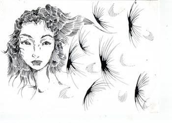 Femme Pissenlit by Letimoineau
