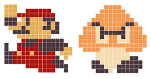 8-Bit Mario n Goomba