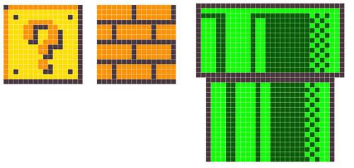 8-Bit Mario Scenery