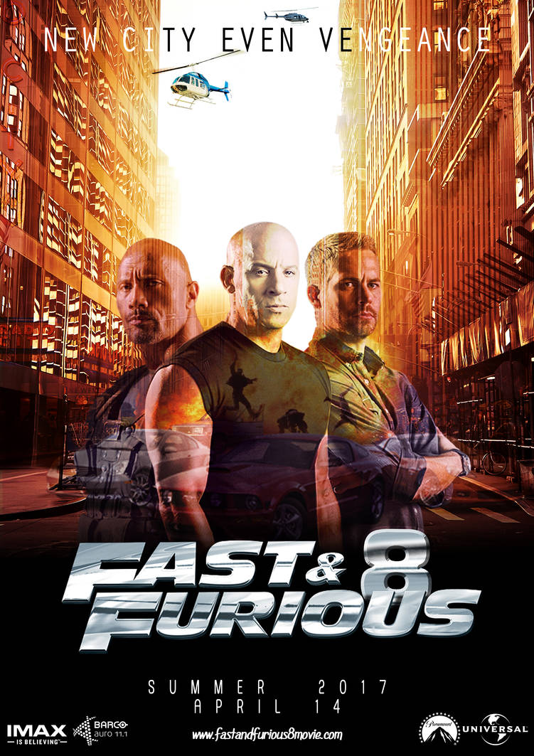 Fast And Furious 8 Movie Poster Design By Tegz04 On Deviantart