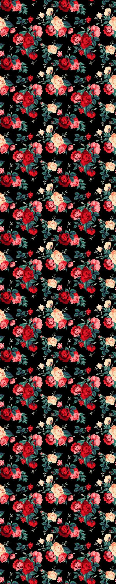 Vintage Roses Black Custom Box by nastyuska