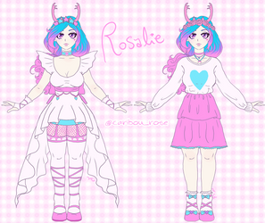 Rosalie, the Caribou Rose Mascot by CaribouRose