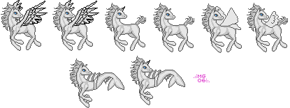 Young Pony Pixel Lineart by CaribouRose