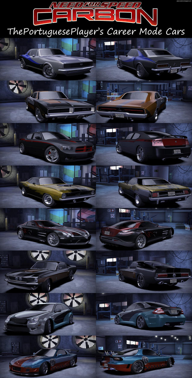 My NFS Carbon Career Mode Garage by ThePortuguesePlayer