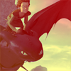HTTYD Icon: Hiccup + Toothless by ParadoxalGraphics