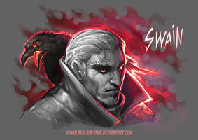 League of Legends: Swain (Sketch pre-rework) by Red-Sinistra