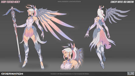 Overwatch: Ivory Feather Mercy - Fan Skin Concept