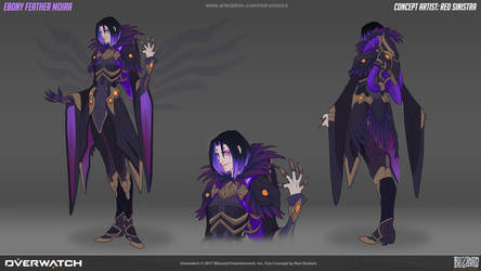 Overwatch: Ebony Feather Moira - Fan Skin Concept