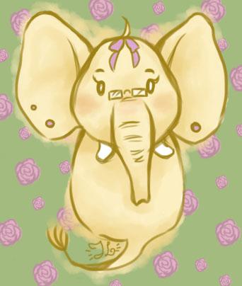 Ghostly elephant ID by ViolaRoseSweetbox