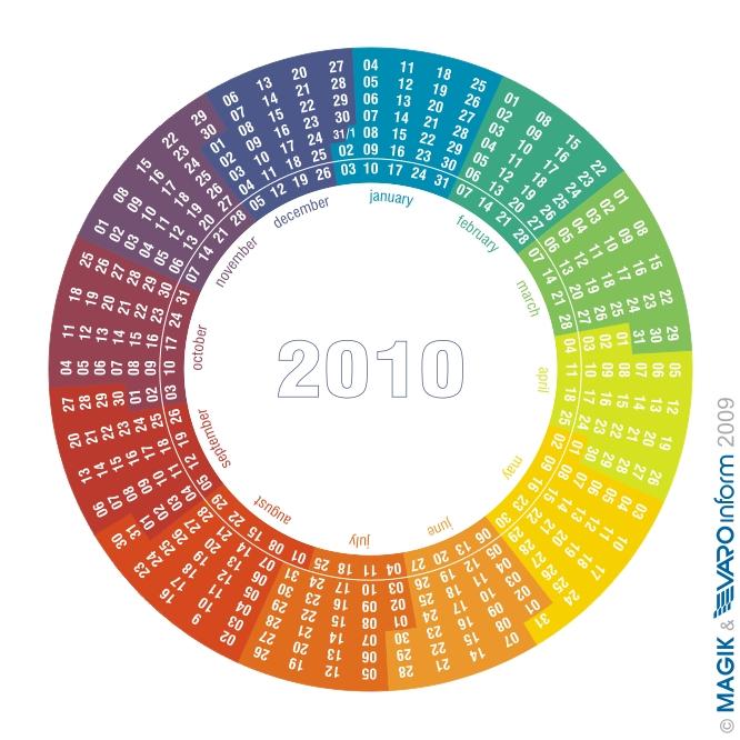 MAGIK's Radial Calendar 2010