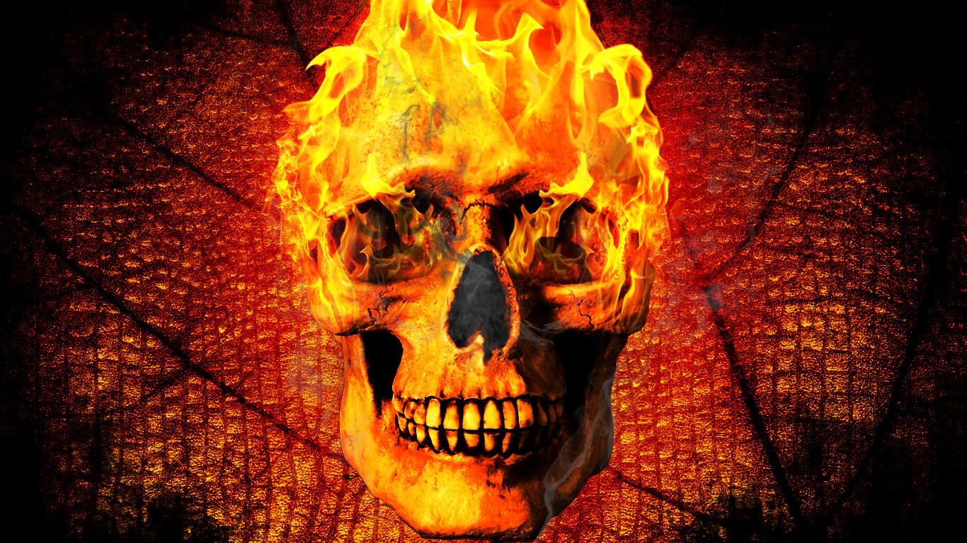 Fire Skull Wallpaper By Daminor26 On Deviantart