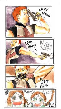 He's left-handed