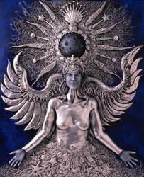 Moon (Variation 1 - Silver) by skeegoedhart
