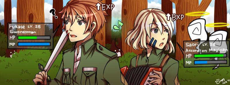 FB cover: RPG - Fukase and Saori by meongngng