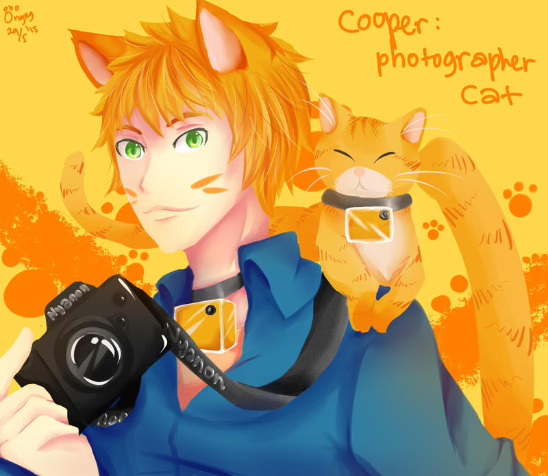 Cooper: Photographer Cat by meongngng