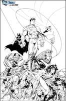 JLA Issue 3 variant by JonathanGlapion