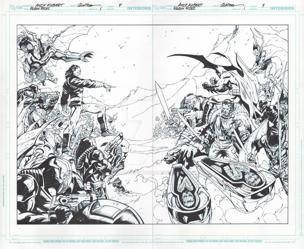 Robin Rises: Omega 1 page 8-9 by JonathanGlapion