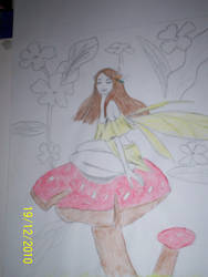 Sketch - Mushroom Fairy 2
