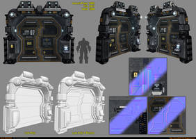 Sci-Fi Module - Door [UDK] by amirabd2130