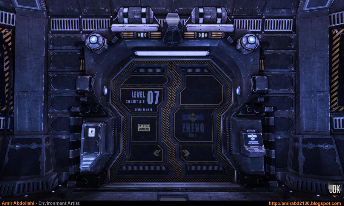 Sci-Fi Corridor v.1 - Close-Up 1 [UDK] by amirabd2130