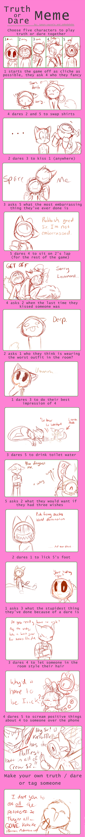 Truth Or Dare Meme Thing by SmilehKitteh