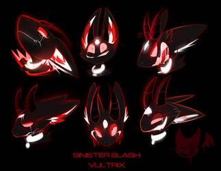 Sinister Slash TG Stickers by Void-Shark