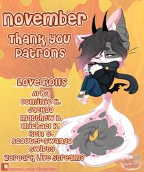 November Thank you ::PATREON::