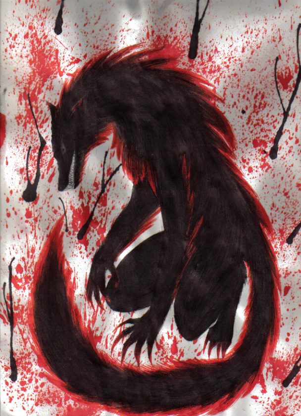 Black demon wolf   Wolves r awesome   Pinterest   Demons ... - photo#35