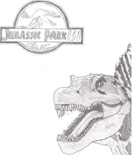 Jurassic Park 3 Spinosaurus Sketch by JurassicJeremy on ...