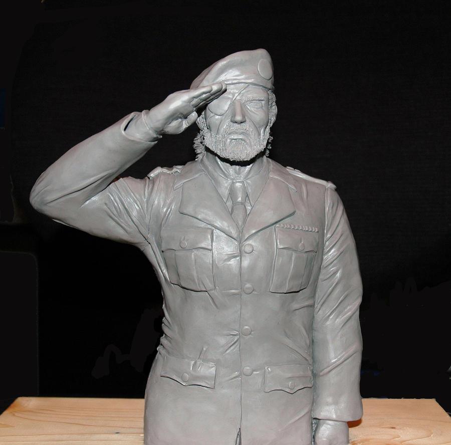 Big Boss Sculpture by TokyoCrow