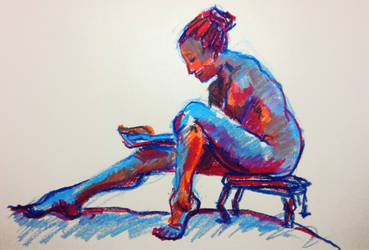 Life Drawing in Oil Pastel