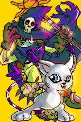 Gatomon and Wizardmon