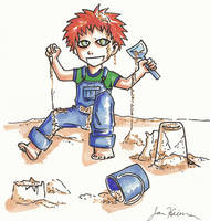 Gaara of the Sand...box. by animatey
