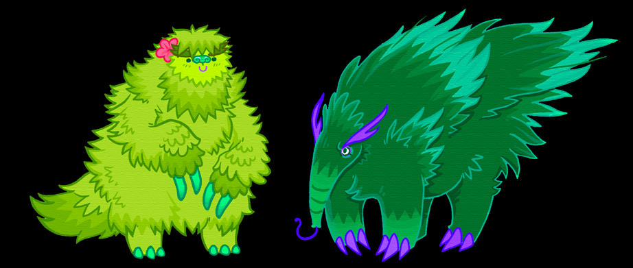 two green monsters