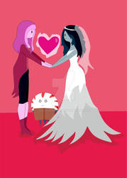 Bubblegum and Marceline Wedding