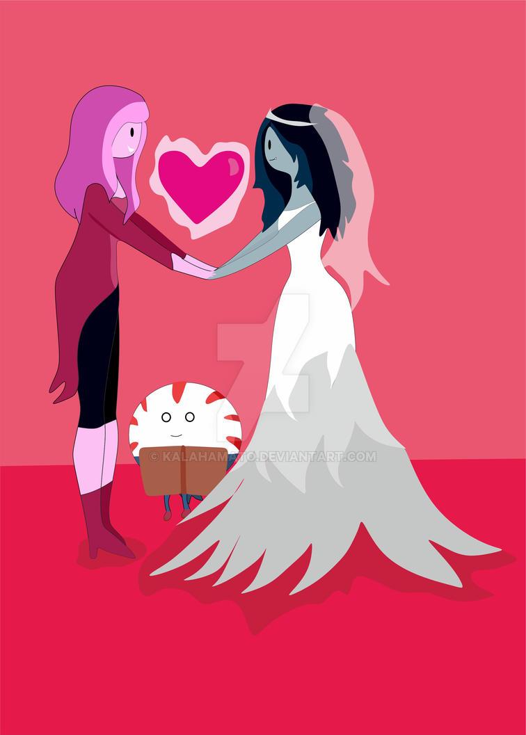Bubblegum and Marceline Wedding by KalaHamato