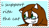 rita the cat stamp by animecat33