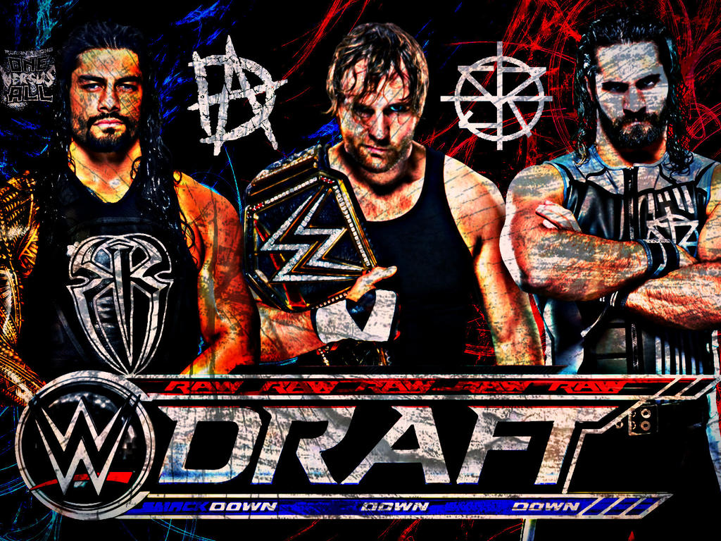 Wwe Draft 2016 Custom Shield Poster By Ambriegnsasylum16 Dibujos