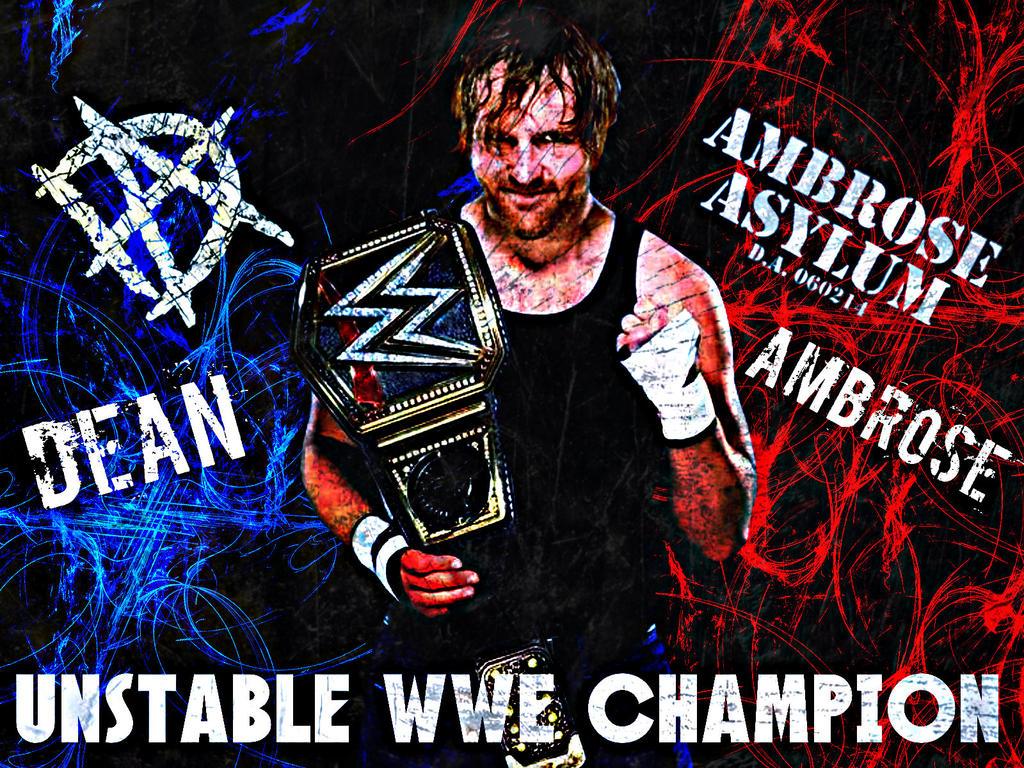 WWE Champ Dean Ambrose Badass Wallpaper By